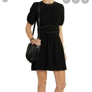 Isabel Marant black wana crepe embrodiered dress